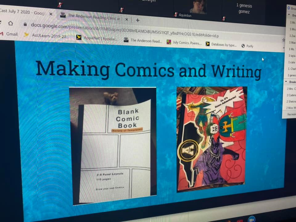 Making comics and writing - literacy casts