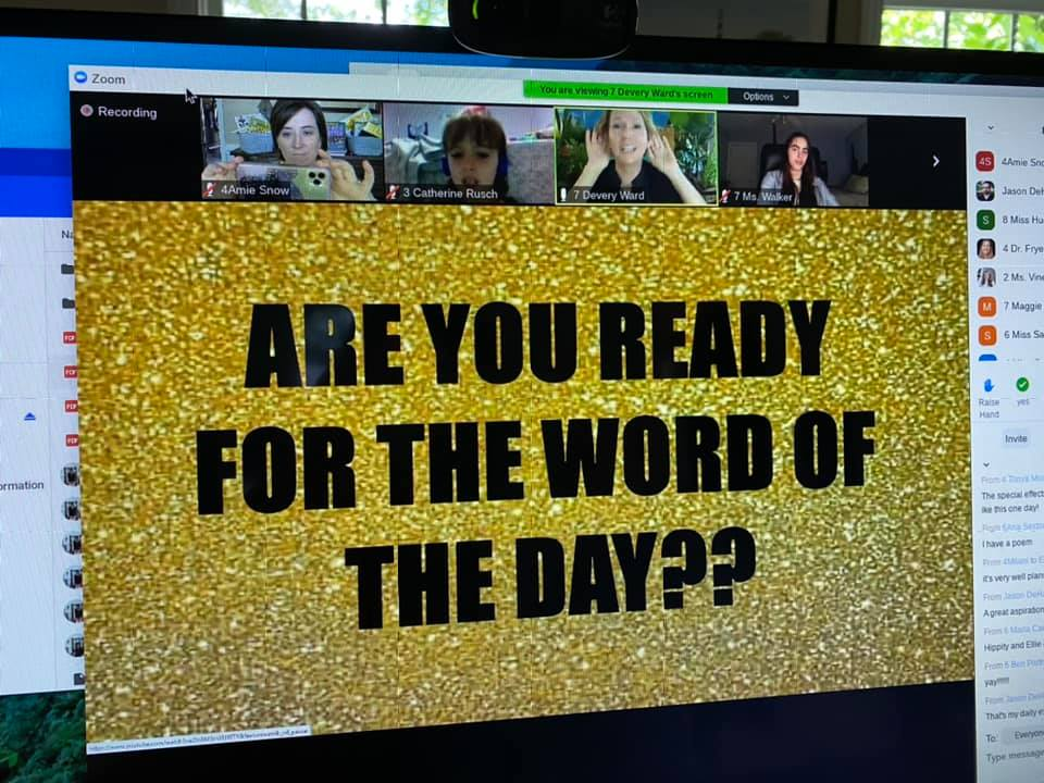 literacy cast screen - are you ready for the word of the day
