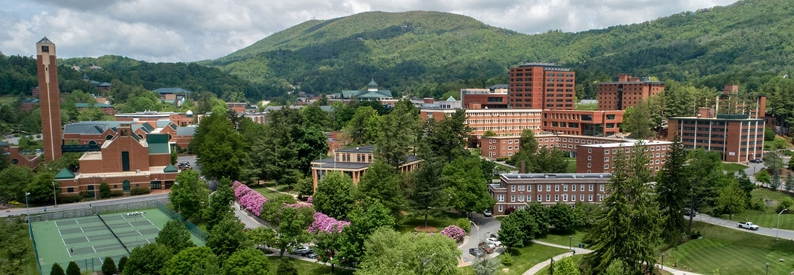 Appalachian State University campus in spring