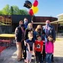 Ann Morris receives recognition, celebration, and balloons to celebrate being named Burke County Public School's 2021 Teacher of the Year.  Photo submission, Jonelle Bobak