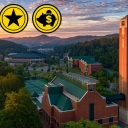 campus scene with accolades