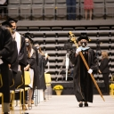 Barbara Howard as mace bearer at the commencement ceremony