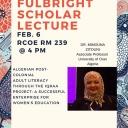 Dr. Mimouna Zitouni, a Fulbright Scholar from Algeria, will visit Appalachian State University February 5-9, 2018.