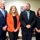 Superintendent Scott Elliott, Mabel Principal Elin Reuben, Green Valley Principal Gordon Prince and Valle Crucis Principal Bonnie Smith.