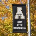 Appalachian flag in autumn