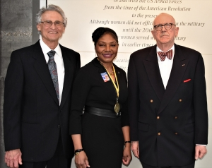 Retired Col. Edna W. Cummings '78, center, is inducted into the U.S. Army Women's Foundation Hall of Fame.