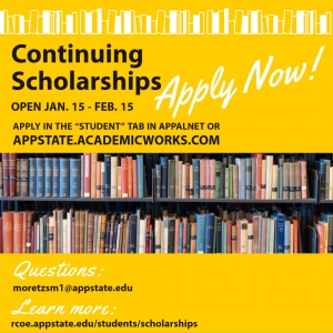 Continuing Scholarships Application Open