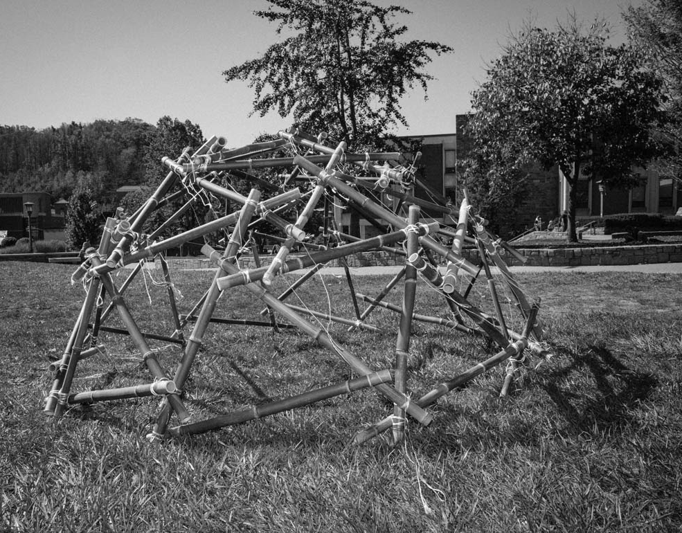 A completed geodesic dome at Appalachian.