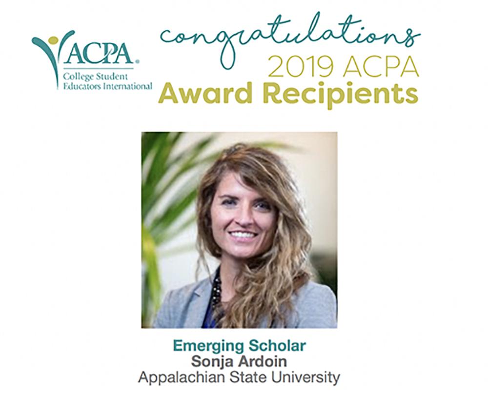 Ardoin Named 2019-21 ACPA Emerging Scholar