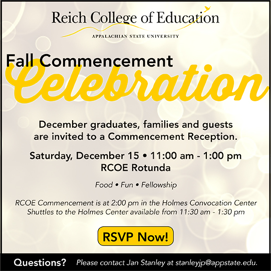 Fall 2018 RCOE Commencement Celebration invite