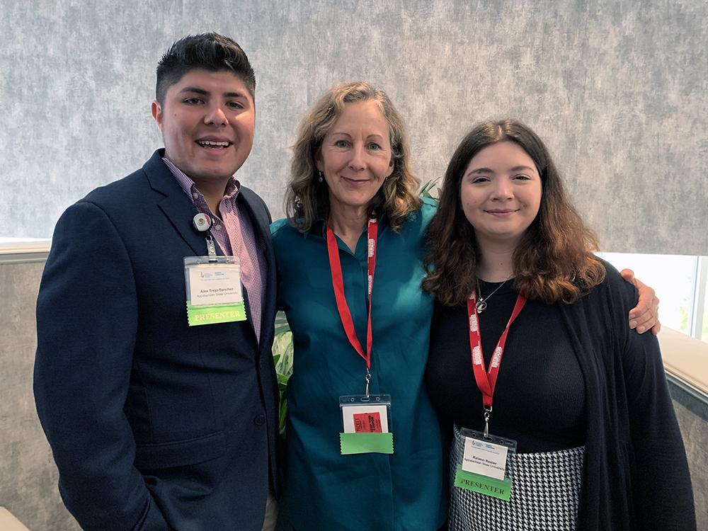 Alex Trejo-Sanchez, Dr. Susan Hedges and Raiann Rosier. Photo submitted