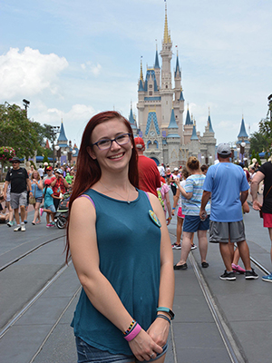 Recent Appalachian graduate Kathleen Hatfield at Disney.