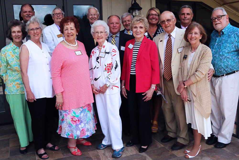 All Rhododendron Society members present at the brunch with Reich College of Education Dean Melba Spooner.
