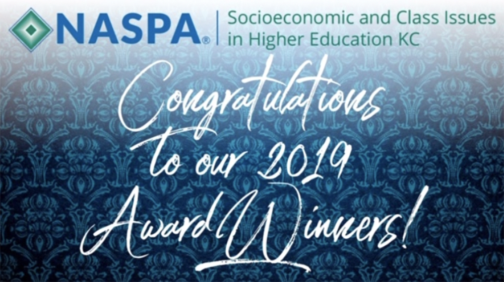 Ardoin Named Recipient of the 2019 Socioeconomic and Class Issues in Higher Education KC Outstanding Service to NASPA Award