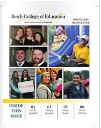 Reich College of Education newsletter