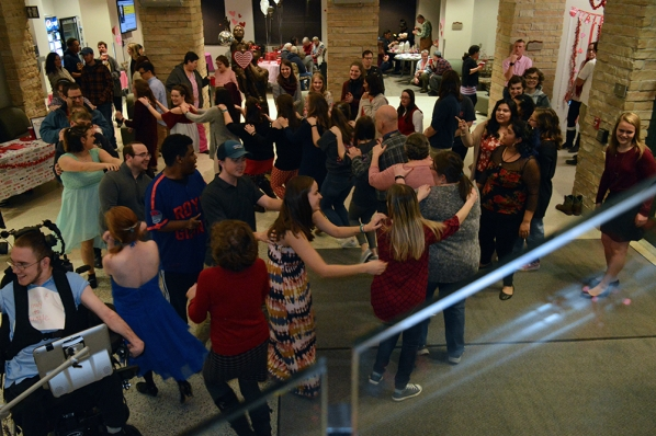 Students and community members bust a move on the dancefloor. Photo submitted