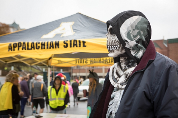 On a frightfully damp and chilly Saturday late in October, costumed creatures gathered on the fog-shrouded campus of Appalachian State University for the 8th annual Spooky Duke Race and Costume Contest.