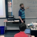 Justin Chandler '16, teaching at West Alexander Middle School in Taylorsville. Photo by Rebekah Saylors