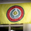 The flag of the Eastern Band of the Cherokee was hung at a ceremony in Plemmons Student Union Wednesday, Dec 6.