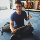Cody Weavil plays a Chinese Erhu. Photo submitted