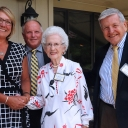 "Appalachian State University alumni Diana Beasley '11, Daron ""Chip"" Buckwell '82, '83, Mary Hazel Farthing Mast '80 and John Bost '70, '85, '89 were inducted into the Rhododendron Society on June 22."