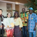 Five of the 21 TEA Fellows in Appalachian's 2017 Teaching Excellence and Achievement program. Pictured, from left, are Sophea Sar of Cambodia, Kamonrat Chimphali of Thailand, Victoria Ayanlowo of Nigeria, Alex Quarshie of Ghana and Raphael Adeyemi of Nigeria. Photo by Marie Freeman