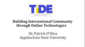 Building International Community through Online Technologies with Dr. Patrick O'Shea