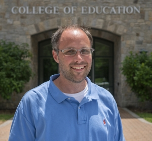 Brian Bettis outside the Reich College of Education