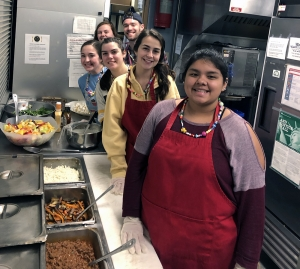 Students prepared from ingredients on hand and served for the evening meal, sloppy joes, home cut fries, cole slaw, fresh fruit salad, mixed green salad with home made ranch dressing and dessert. Photo submitted