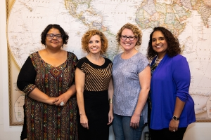 Members of the 2018–19 Inclusive Excellence Team at Appalachian include, from left, Dr. Sushmita Chatterjee, Dr. Brandy Byson, Dr. Elizabeth Bellows and Dr. Jamie Anderson Parson. Not pictured are Dr. Greg McClure and Cara Hagan. Photo by Chase Reynolds