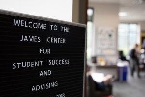 The James Center for Student Success and Advising, named for Steve and Judy James, is located on the first floor of the Reich College of Education. Photo by Chase Reynolds